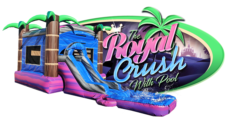 Royal Crush Water Slide with Pool