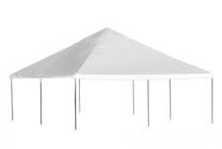 White 20X20 Tent