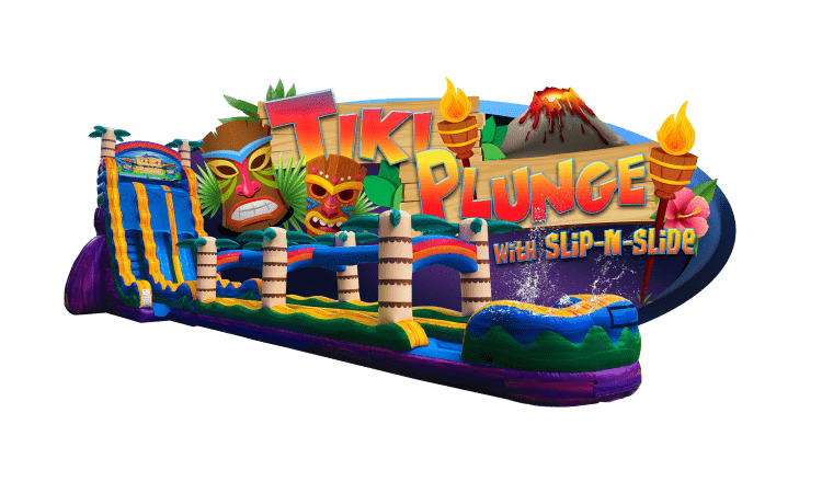TIKI PLUNGE water slide w/pool