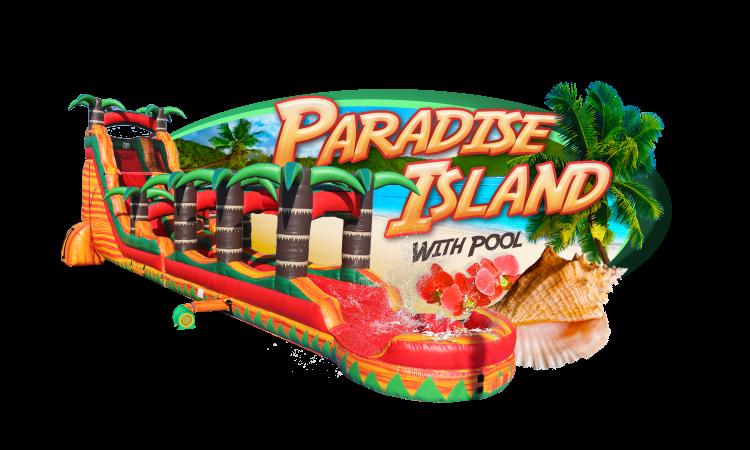 Paradise Island with slip-n-slide & pool